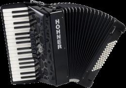 Hohner Amica forte III 72 silent key schwarz  Akkordeon