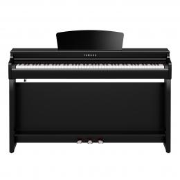 Yamaha CLP-725 PE Digital Piano Schwarz poliert Sparpaket mit Klavierbank und Kopfhörer und Songbook