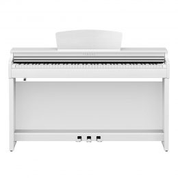 Yamaha CLP-725 WH Digital Piano Weiss Sparpaket mit Klavierbank und Kopfhörer und Songbook  matt