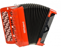 Roland FR-4XB RD V-Akkordeon Knopf Rot Ausstellungsinstrument