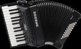 Hohner Bravo II 48 silent key schwarz Akkordeon