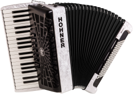Hohner Bravo III 96 silent key weiß Akkordeon