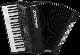 Hohner Bravo III 96 silent key schwarz Akkordeon