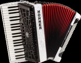 Hohner Bravo III 120 silent key weiß Akkordeon