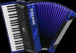 Hohner Bravo III 120 silent key blau Akkordeon