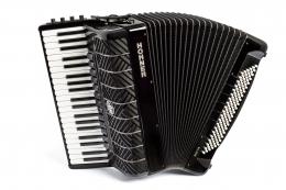 Hohner Akkordeon Mattia IV 120 weisse Tasten