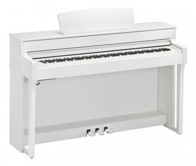 Yamaha CLP-645 WH Digital Weiss matt Sparpaket