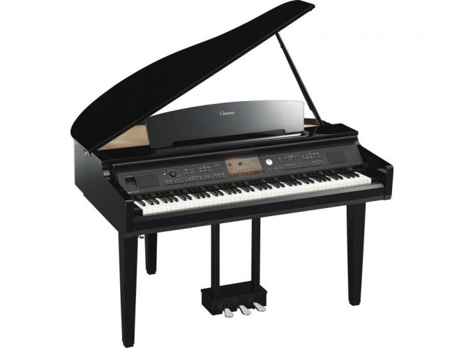 Yamaha CVP 709GP PE schwarz hochglanz Digital Piano Sparpaket