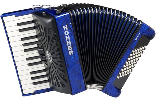 Hohner Bravo II 48 silent key blau Akkordeon