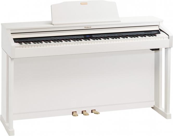 Roland HP-504 WH Digital Piano Weiß Sparpaket