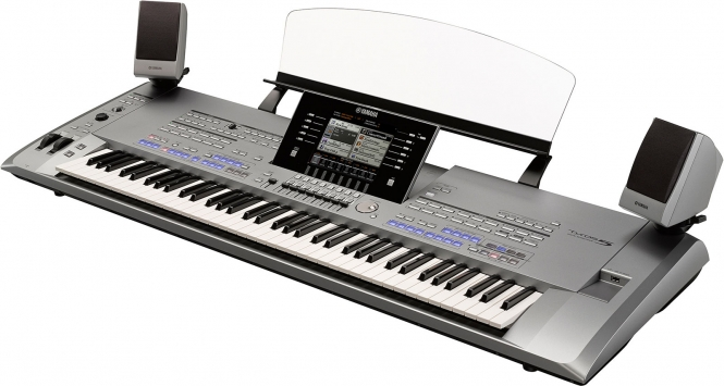 Yamaha Tyros5-76 XL mit TRS MS-5 Entertainer Gold ...