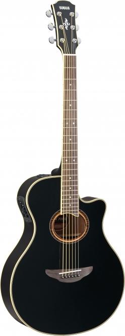 Black Yamaha APX 700 II Western Gitarre